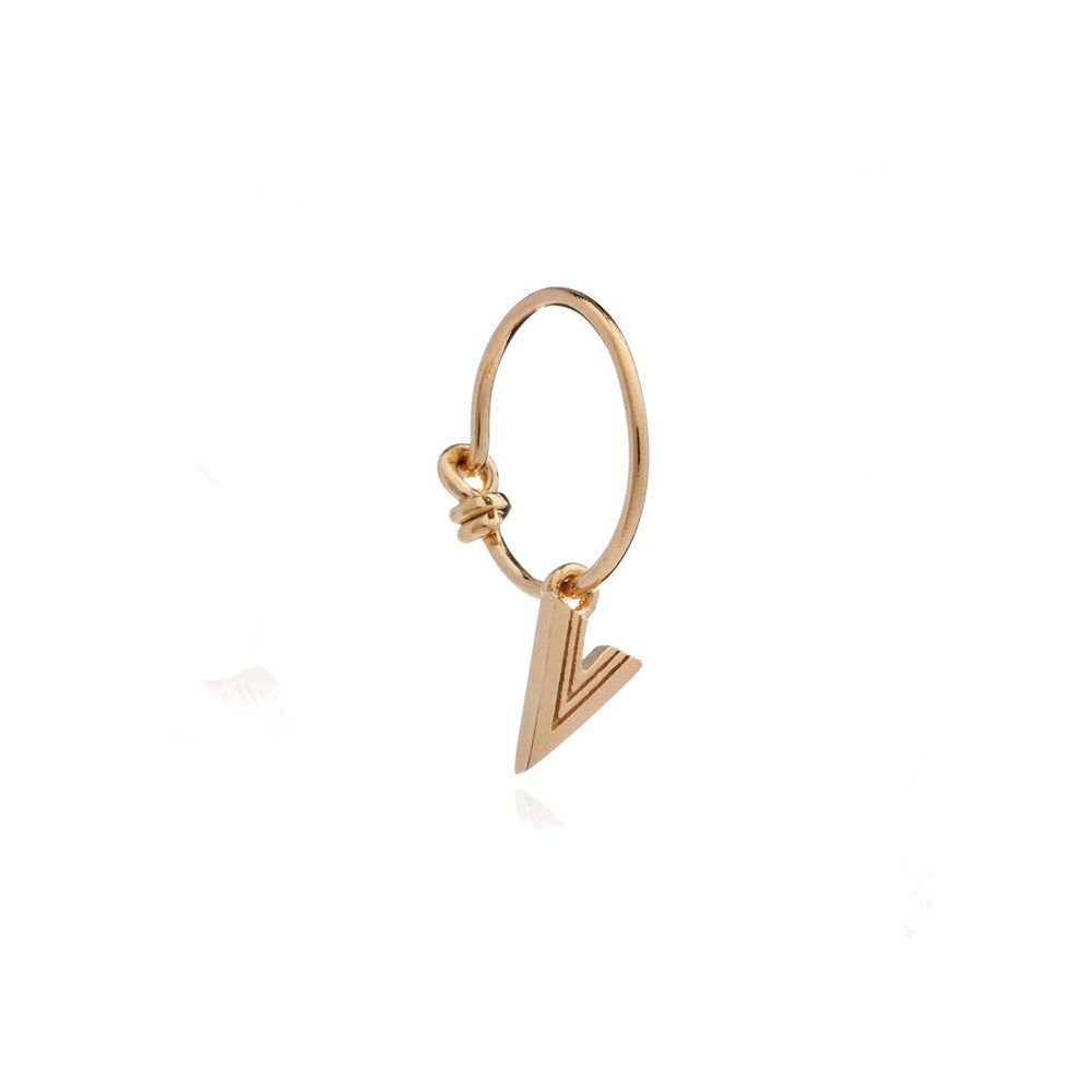 This is Me Gold Mini Hoop Earring - Letter V