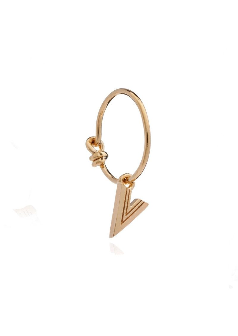 This is Me Gold Mini Hoop Earring - Letter V main image