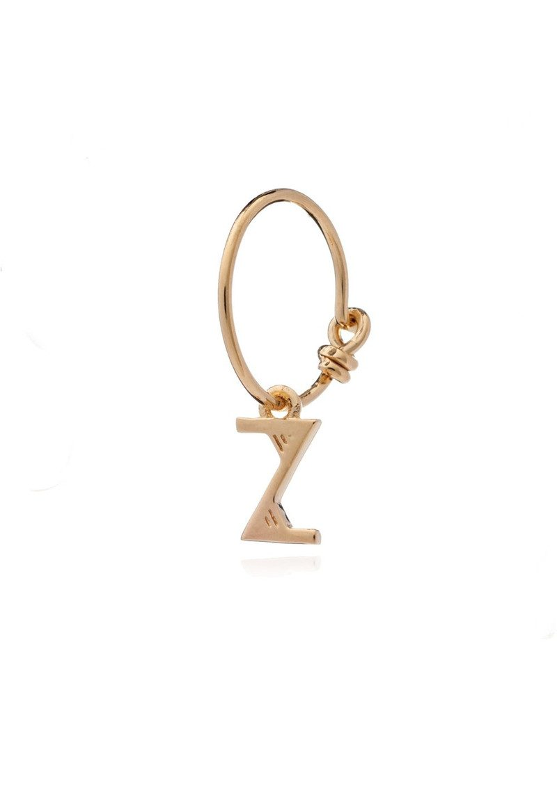 RACHEL JACKSON This is Me Gold Mini Hoop Earring - Letter Z main image