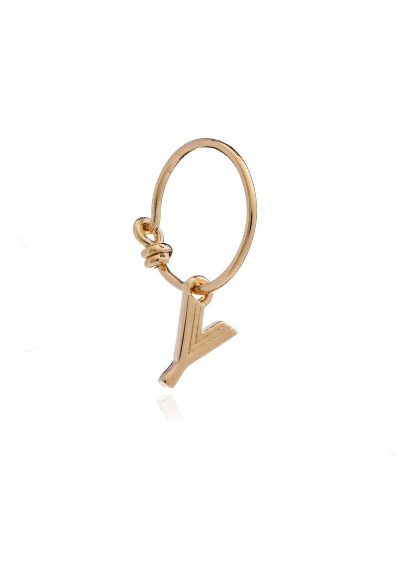 RACHEL JACKSON This is Me Gold Mini Hoop Earring - Letter Y main image