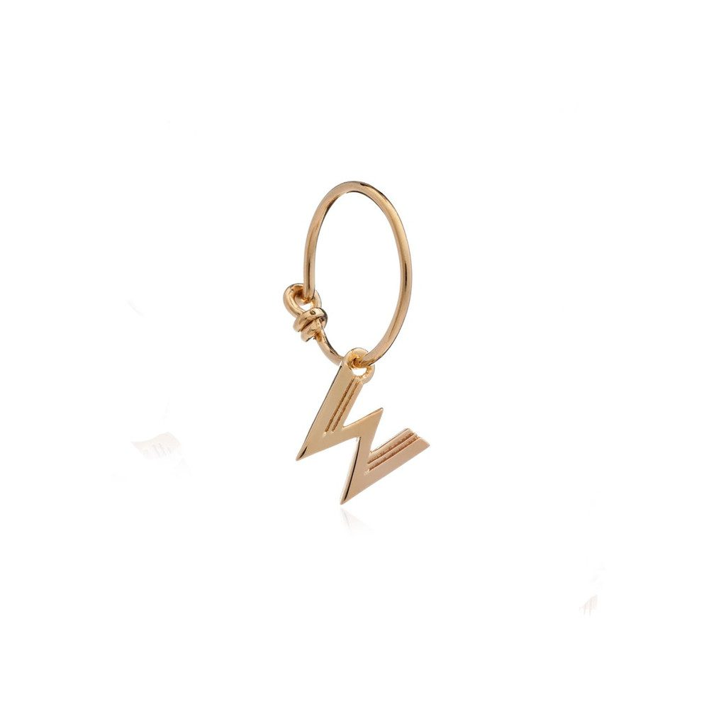 This is Me Gold Mini Hoop Earring - Letter W