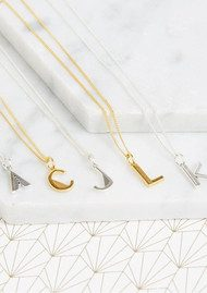 RACHEL JACKSON This Is Me 'A' Alphabet Necklace - Gold