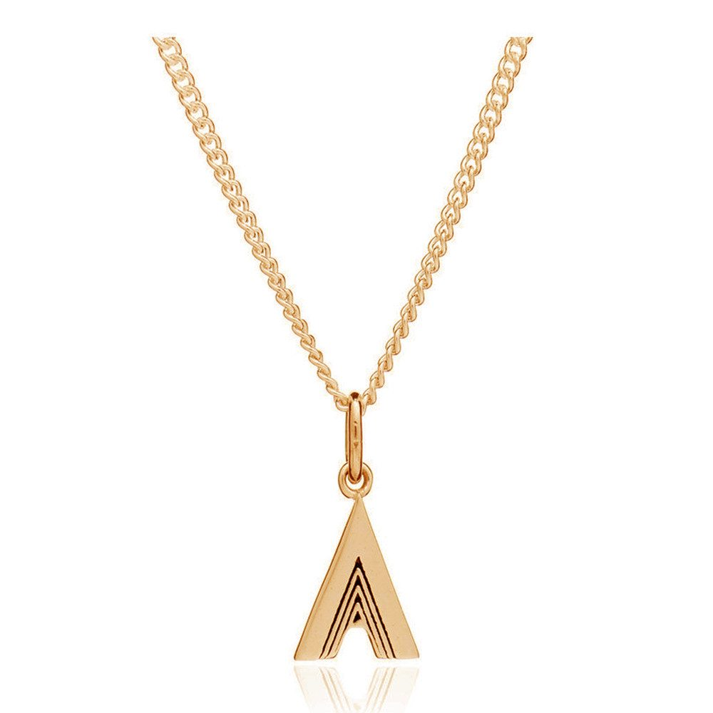This Is Me 'A' Alphabet Necklace - Gold
