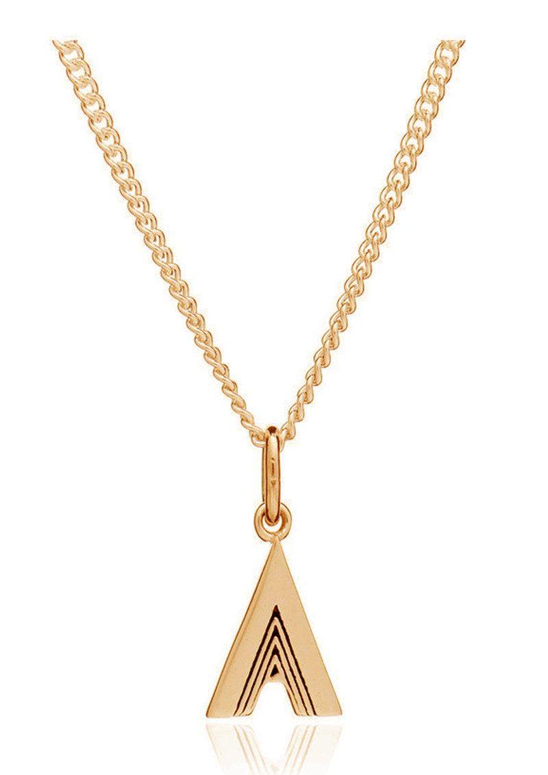 RACHEL JACKSON This Is Me 'A' Alphabet Necklace - Gold main image
