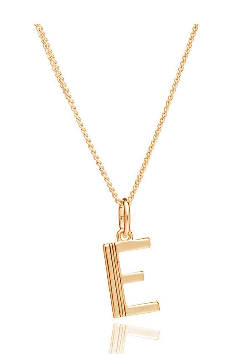 RACHEL JACKSON This Is Me 'E' Alphabet Necklace - Gold main image