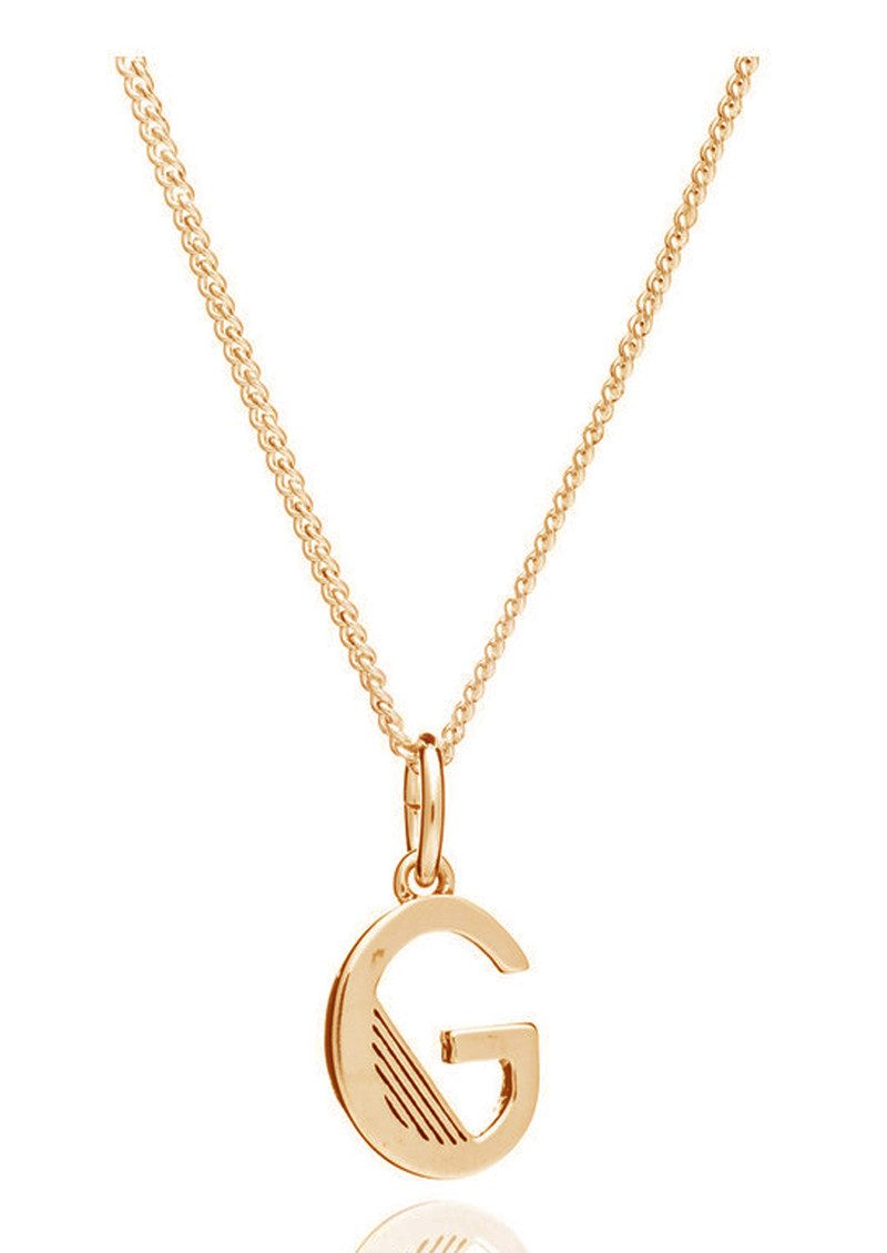 RACHEL JACKSON This Is Me 'G' Alphabet Necklace - Gold main image