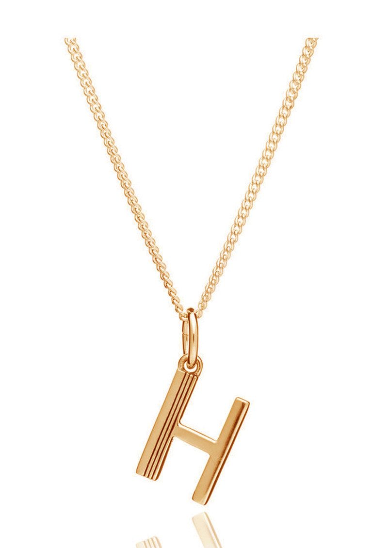RACHEL JACKSON This Is Me 'H' Alphabet Necklace - Gold main image