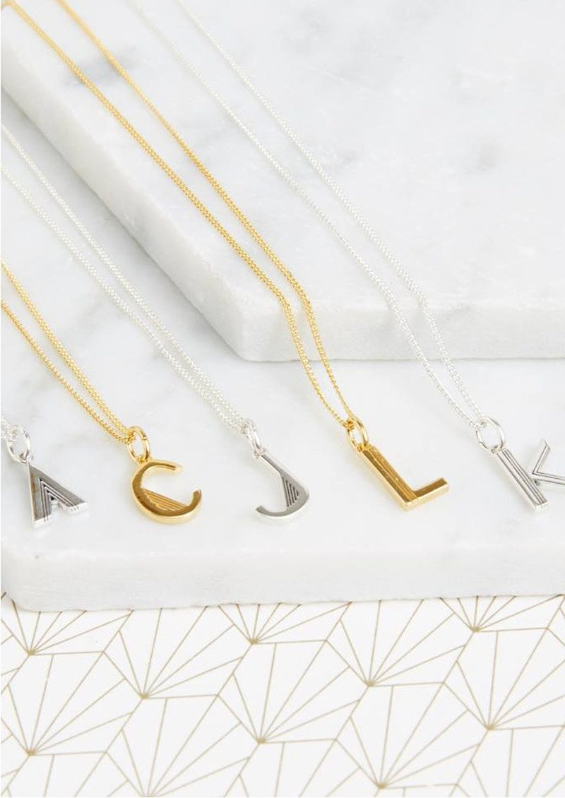 This Is Me 'J' Alphabet Necklace - Gold main image