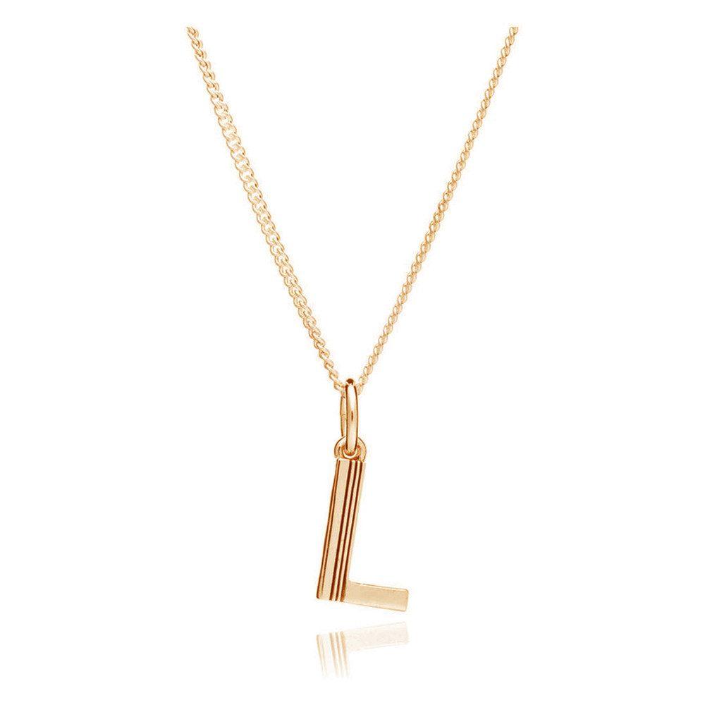 This Is Me 'L' Alphabet Necklace - Gold
