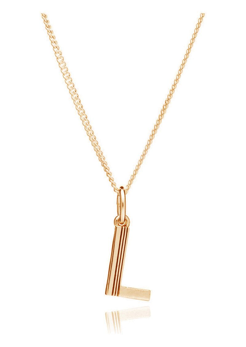 RACHEL JACKSON This Is Me 'L' Alphabet Necklace - Gold main image