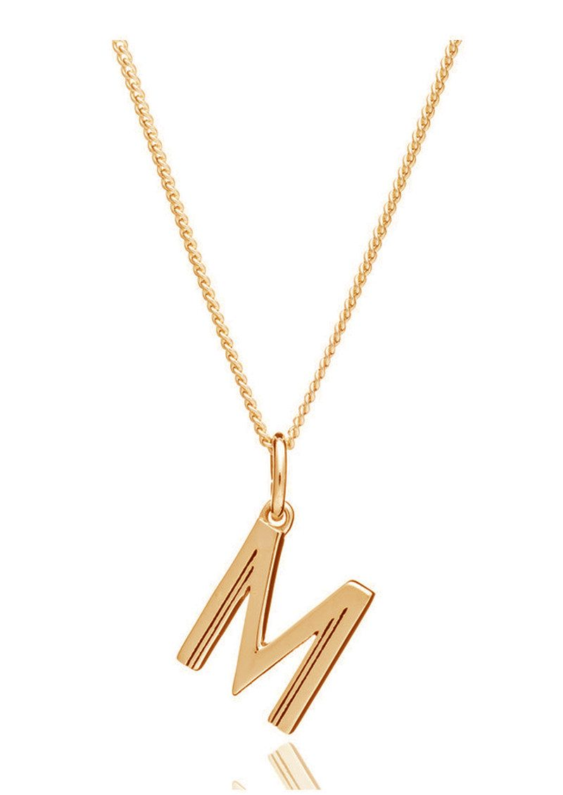 This Is Me 'M' Alphabet Necklace - Gold main image