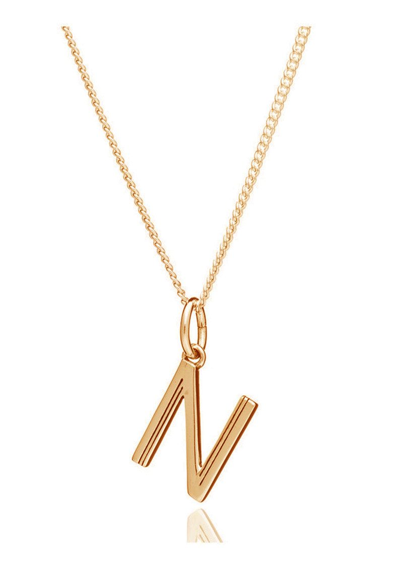 This Is Me 'N' Alphabet Necklace - Gold main image