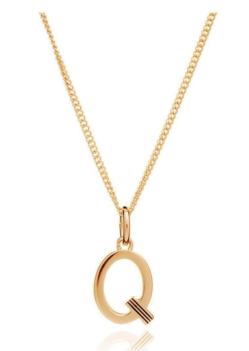 RACHEL JACKSON This Is Me 'Q' Alphabet Necklace - Gold main image