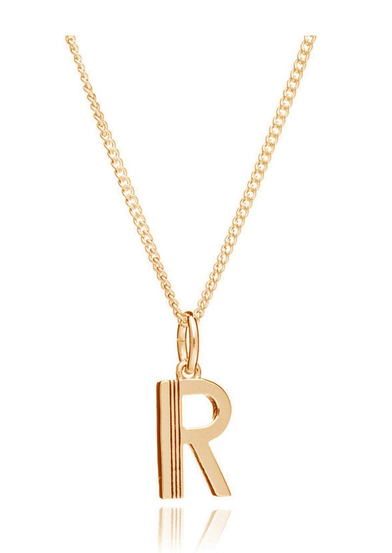 RACHEL JACKSON This Is Me 'R' Alphabet Necklace - Gold main image
