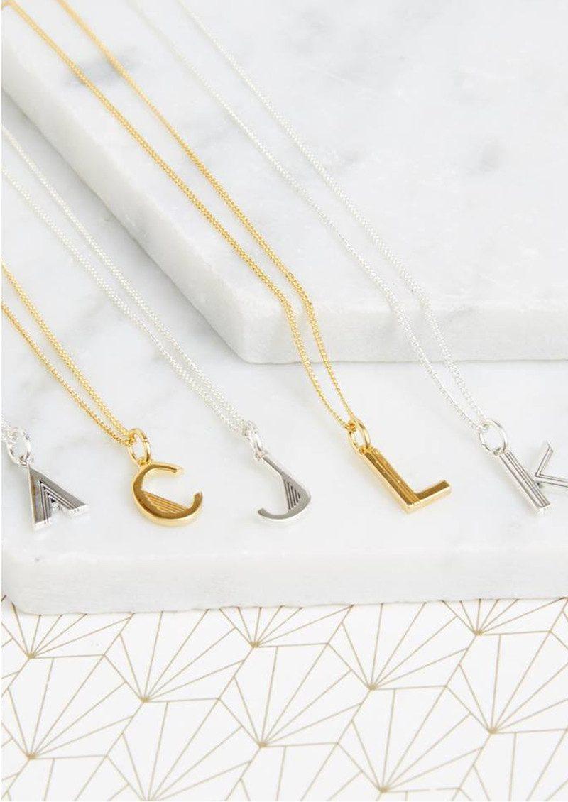 RACHEL JACKSON This Is Me 'T' Alphabet Necklace - Gold main image