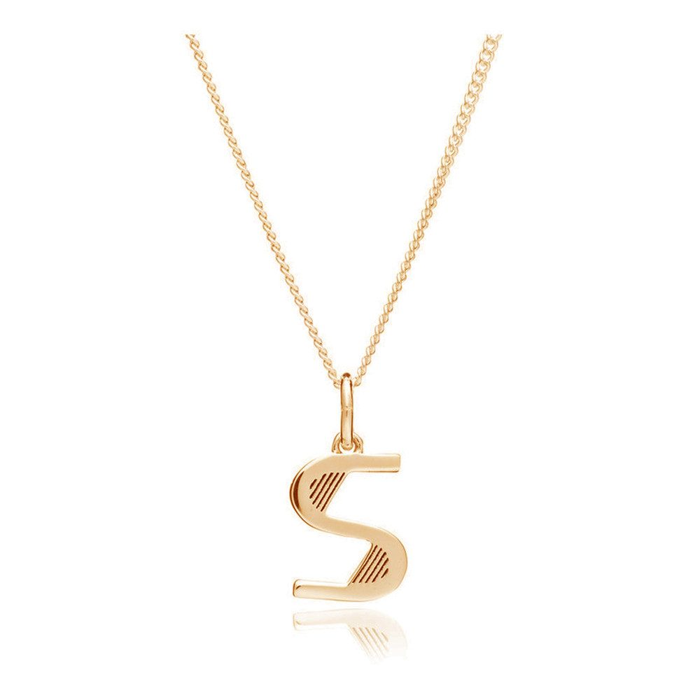 This Is Me 'S' Alphabet Necklace - Gold