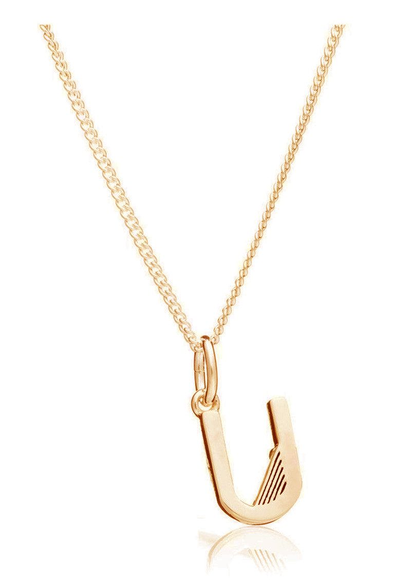 RACHEL JACKSON This Is Me 'U' Alphabet Necklace - Gold main image