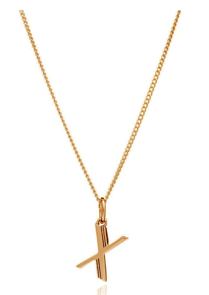 This Is Me 'X' Alphabet Necklace - Gold main image