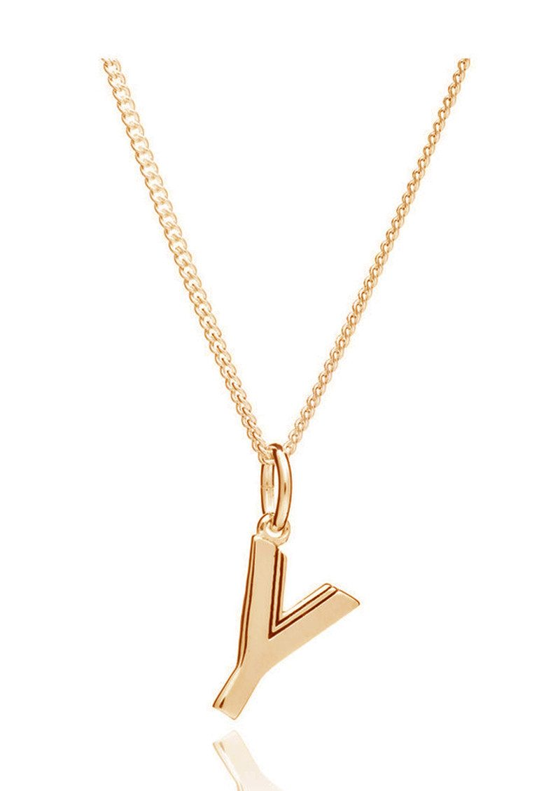 RACHEL JACKSON This Is Me 'Y' Alphabet Necklace - Gold main image