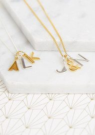 RACHEL JACKSON This Is Me 'Z' Alphabet Necklace - Gold