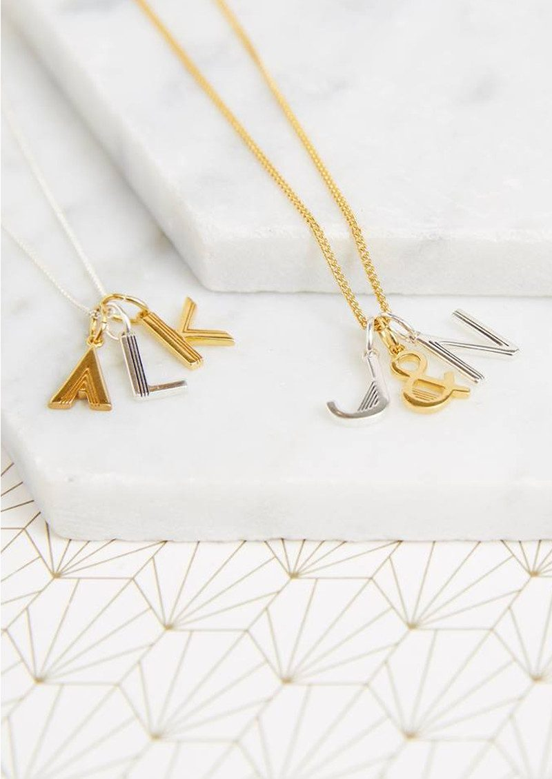 This Is Me 'Z' Alphabet Necklace - Gold main image