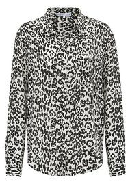 Lily and Lionel Classic Silk Shirt - Leopard Mono
