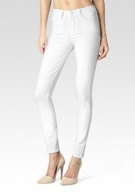Paige Denim Hoxton Ankle Peg Ultra Skinny Cropped Jeans - Ultra White