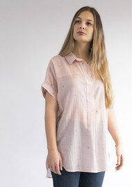 NOOKI Beatrice Embroidered Shirt - Rose