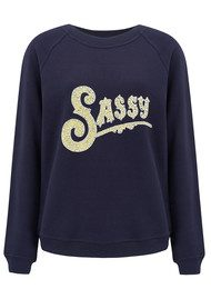 UZMA BOZAI Sassy Embellished Sweater - Navy