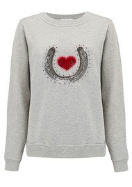 UZMA BOZAI Bobby Embellished Sweater - Grey