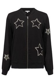 UZMA BOZAI Patsy Embellished Star Jacket - Black