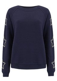 UZMA BOZAI Reba Embellished Star Sweater - Navy