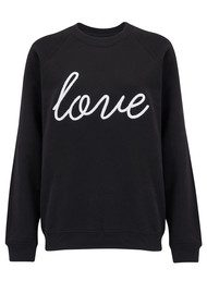ON THE RISE Love Sweater - Black & White