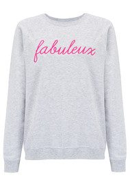 ON THE RISE Fabuleux Sweater - Grey & Pink