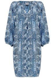 Mercy Delta Florence Silk Dress - Python Sapphire
