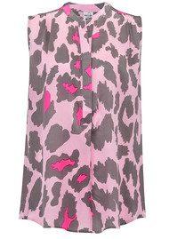 Mercy Delta Hampton Silk Blouse - Giraffe Safari Rose