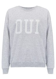 ON THE RISE Oui Jumper - Grey & White