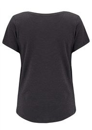 ON THE RISE Concentric Stars Tee - Black