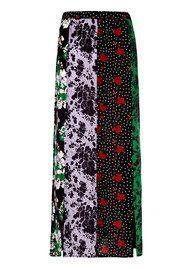RIXO London Steph Midi Skirt - Abstract Florals