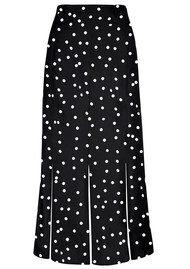 RIXO London Steph Midi Skirt - Spot Black