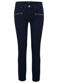 Paige Denim Jane Zip Mid Rise Skinny Cropped Jeans - Alley