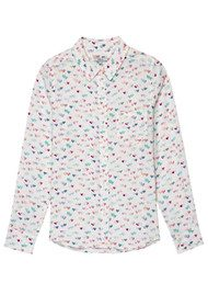 Rails Kate Silk Shirt - Watercolour Heart