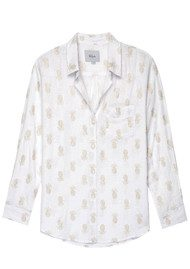Rails Charli Shirt - Gold Pineapple