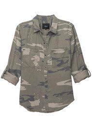 Rails Marcel Shirt - Sage Camo Stars