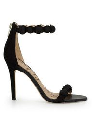 Sam Edelman Addison Ankle Strap Suede Heels - Black