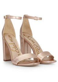 Sam Edelman Yaro Ankle Strap Heels - Blush Gold