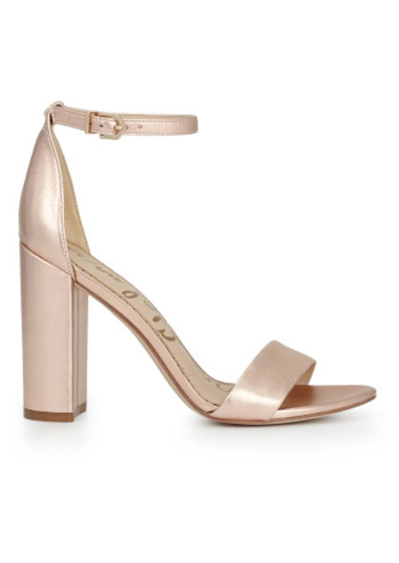 Yaro Ankle Strap Heels   Blush Gold by Sam Edelman