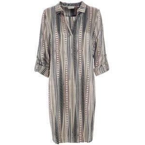 Caroline Dress - Rows Grey