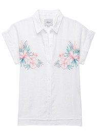 Rails Whitney Embroidery Top - White