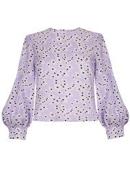 RIXO London Imogen Cotton Top - Daisy Lilac